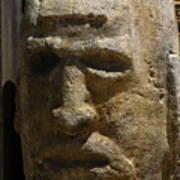 Stone Head Art Print
