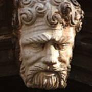 Stone Head In Venice Art Print