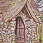 Stone House In Skagit County Art Print