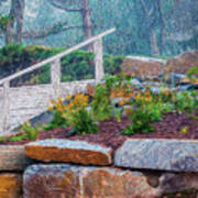 Stone Wall And Stairs Art Print