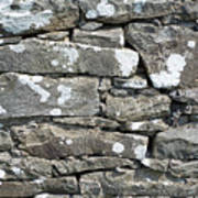 Stone Wall Detail Doolin Ireland Art Print