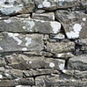 Stone Wall Detail Doolin Ireland Art Print