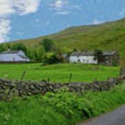 Stone Wall Lake District - P4a16012 Art Print