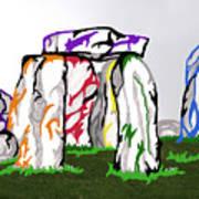 Stonehenge Chakras Art Print