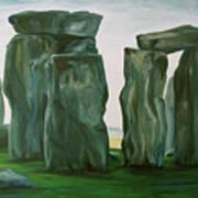 Stonehenge In Spring 2 Art Print