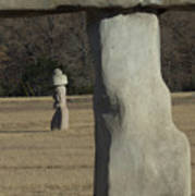 Stonehenge Two Meets Easter Island Art Print