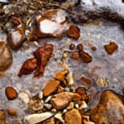 Stones And Ice Art Print