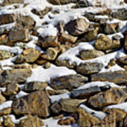 Stones And Snow Art Print