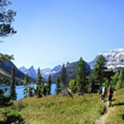 Stoney Indian Pass Trail Around Cosley Lake - Glacier National Park Art Print