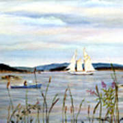 Stonington Harbor, Maine Art Print