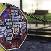 Stop Sign Ala New Orleans, Louisiana Art Print