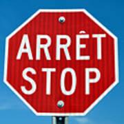 Stop Sign. Art Print