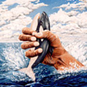 Stop Whaling Art Print