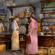 Store - In A General Store 1917 Art Print