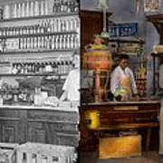 Store - In A General Store 1917 Side By Side Art Print