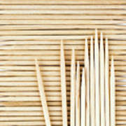 Stored Wooden Toothpicks Art Print