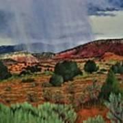 Storm Approaching The Ridge Art Print