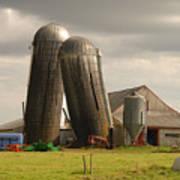 Storm At The Farm Art Print