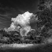 Storm Beyond The Meadow Art Print