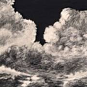 Storm Clouds 1 Art Print by Elizabeth Lane