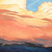 Storm Clouds And Sunsets Art Print