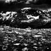 Storm Clouds Gathering In The Rockies Art Print