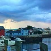 Storm Clouds Over Rockport Harbor Art Print