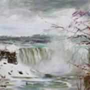 Storm In Niagara Falls  Art Print