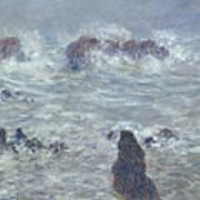 Storm Off The Coast Of Belle Ile Art Print