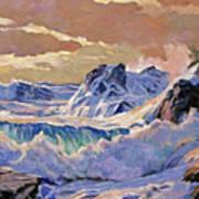 Storm On Pacific Coast Art Print