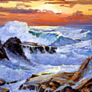 Storm On The Irish Coast Art Print