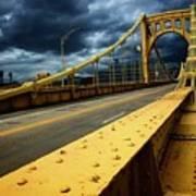 Storm Over Bridge Art Print