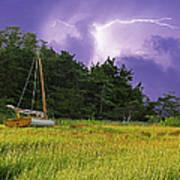 Storm Over Knott's Island Art Print