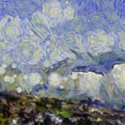 Storm Over Shore Art Print