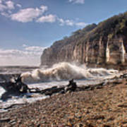 Storm Tide Cliffs End Art Print