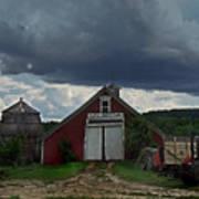 Storm Upon Maple Grove Farm Art Print