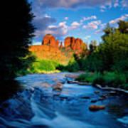 Stormlight On Red Rock Crossing Art Print