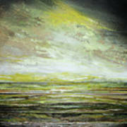 Stormsand Beach Textures No2yellow Art Print