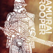 Stormtrooper - Star Wars Art - Brown Art Print