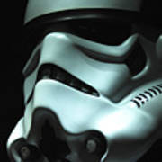 Stormtrooper Helmet Art Print by Micah May