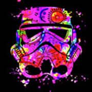 Stormtrooper Mask Rainbow 10 Art Print