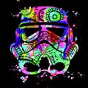 Stormtrooper Mask Rainbow 6 Art Print
