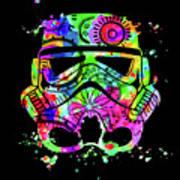 Stormtrooper Mask Rainbow 8 Art Print