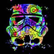 Stormtrooper Mask Rainbow 9 Art Print