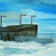 Stormy At Morro Bay Art Print
