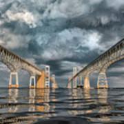 Stormy Chesapeake Bay Bridge Art Print