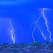 Stormy Desert Art Print