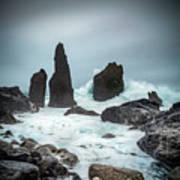 Stormy Iclandic Seas Art Print