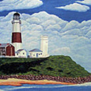 Stormy Montauk Point Lighthouse Art Print