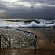 Stormy Morning At Collaroy Art Print